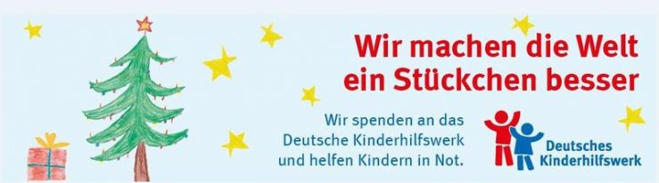 Spende 2018 an das Kinderhilfswerk